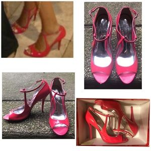 GUESS Pink Patent Leather Heels